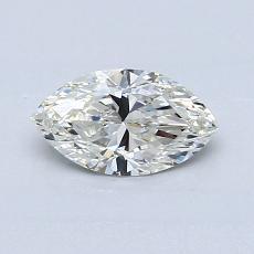 所選擇的鑽石: 0.51  克拉欖尖形切割鑽石