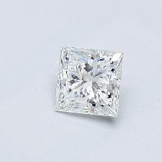 Recommended Stone #4: 0.40-Carat Princess Cut Diamond