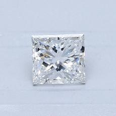 0.50-Carat Princess Diamond Good E VS1