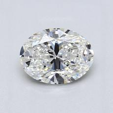 0.90-Carat Oval Diamond Very Good H VVS2