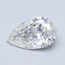 0.79-Carat Pear Diamond Very Good F VS1