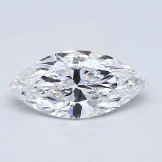 推荐宝石 2:1.33 克拉马眼形钻石