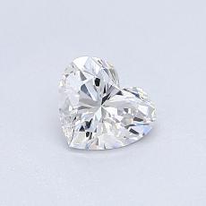 Pierre recommandée n°4: Diamant taille cœur 0,45carat