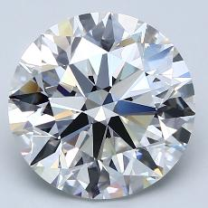 4.02-Carat Round Diamond Ideal F VVS2