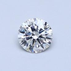 0.54-Carat Round Diamond Ideal J SI2