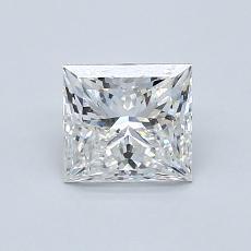 1.03 Carat 公主方形 Diamond 非常好 F SI1