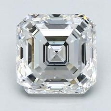 2.03-Carat Asscher Diamond Very Good F VS2
