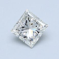 推薦鑽石 #1: 0.74 克拉公主方形切割