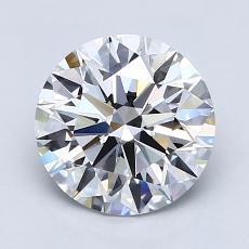 2.04-Carat Round Diamond Ideal E VVS2
