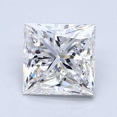 1,60-Carat Princess Diamond Very Good F SI1