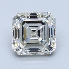 1,81 Carat Asscher Diamond Très bonne J VVS2