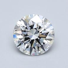 1.12-Carat Round Diamond Ideal E VVS2