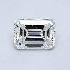 0.75-Carat Emerald Diamond Very Good F VVS1