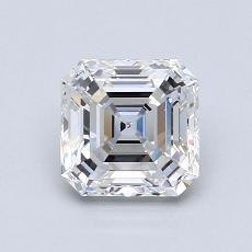 1.09 Carat Asscher Diamond Muy buena F VVS2