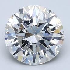 3,01-Carat Round Diamond Ideal J SI1