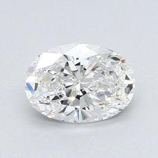 1.00 Carat 椭圆形 Diamond 非常好 F VVS2