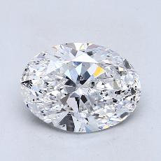 2,01-Carat Oval Diamond Very Good D SI2