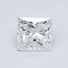0.70-Carat Princess Diamond Very Good F VVS2