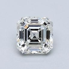 1,01-Carat Asscher Diamond Very Good H IF