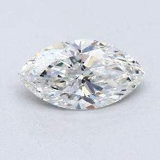 Piedra recomendada 2: con diamante Talla marquesa de 0.60 quilates