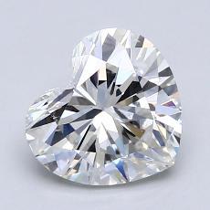 Piedra objetivo: Diamante con forma de corazón de 1.52 quilates