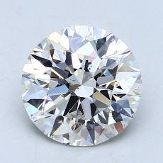 2.00 Carat 圆形 Diamond 理想 H SI1