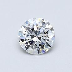 0.60 Carat 圆形 Diamond 理想 E VVS2