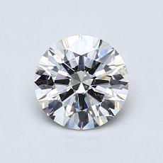 0.80-Carat Round Diamond Ideal I SI1