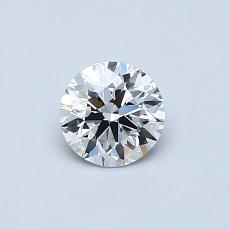 0,50-Carat Round Diamond Very Good E VVS2