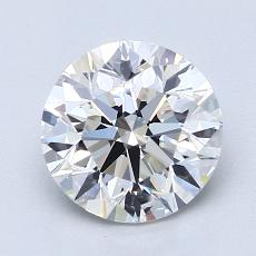 1.80-Carat Round Diamond Ideal E VVS2