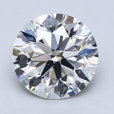 2.00 Carat 圆形 Diamond 理想 D VS2
