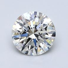2,01 Carat Rond Diamond Idéale G IF