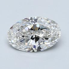 1,00-Carat Oval Diamond Very Good G VS2