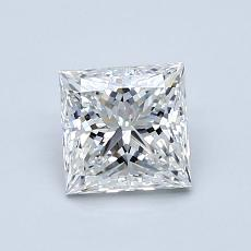 1.00-Carat Princess Diamond Very Good F VVS2