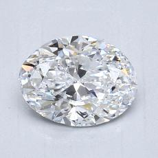 1.01 Carat 椭圆形 Diamond 非常好 D VS1