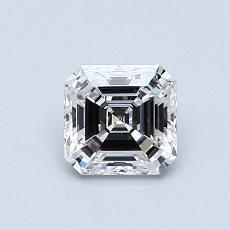 0.71 Carat Asscher Diamond Muy buena F VVS2