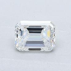 1.04-Carat Emerald Diamond Very Good G VVS2