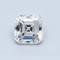 Pierre recommandée n°1: Diamant taille Asscher 0,82 carat