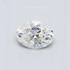 推荐宝石 3:0.47克拉椭圆形切割钻石