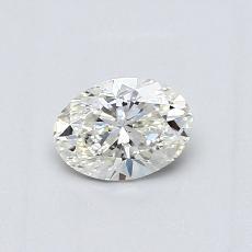 0.51 Carat 椭圆形 Diamond 良好 H VVS2