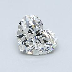0.94-Carat Heart Diamond Very Good H SI1