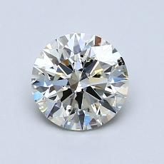 1.00-Carat Round Diamond Ideal J SI2