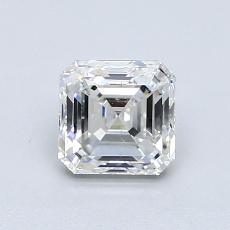 所選擇的鑽石: 1.03  克拉上丁方形鑽石