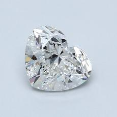 Piedra recomendada 3: Diamante con forma de corazón de 1.00 quilates