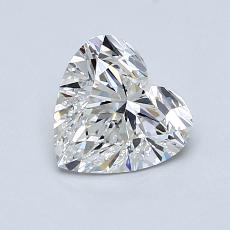1,00-Carat Heart Diamond Good F SI1