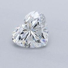 Pierre recommandée n°1: Diamant taille cœur 0,76carat