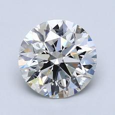 1.55-Carat Round Diamond Ideal I VS2