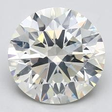 4.06-Carat Round Diamond Ideal K SI2