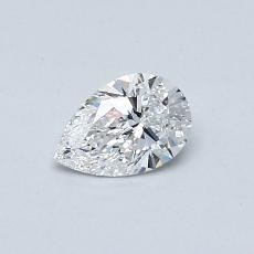 Piedra recomendada 4: Diamante en forma de pera de0.40 quilates