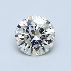0.90-Carat Round Diamond Ideal K SI2
